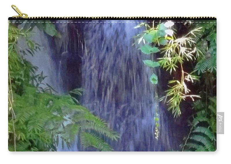 Pamela Walton Carry-all Pouch featuring the photograph Hidden Waterfall by Pamela Walton