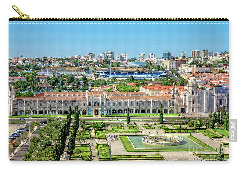 Lisbon Carry-all Pouch featuring the photograph Hieronymites Monastery Aerial by Benny Marty