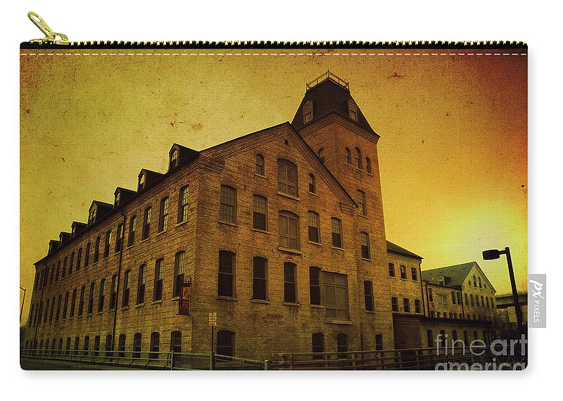 Historic Carry-all Pouch featuring the photograph Historic Fox River Mills by Joel Witmeyer