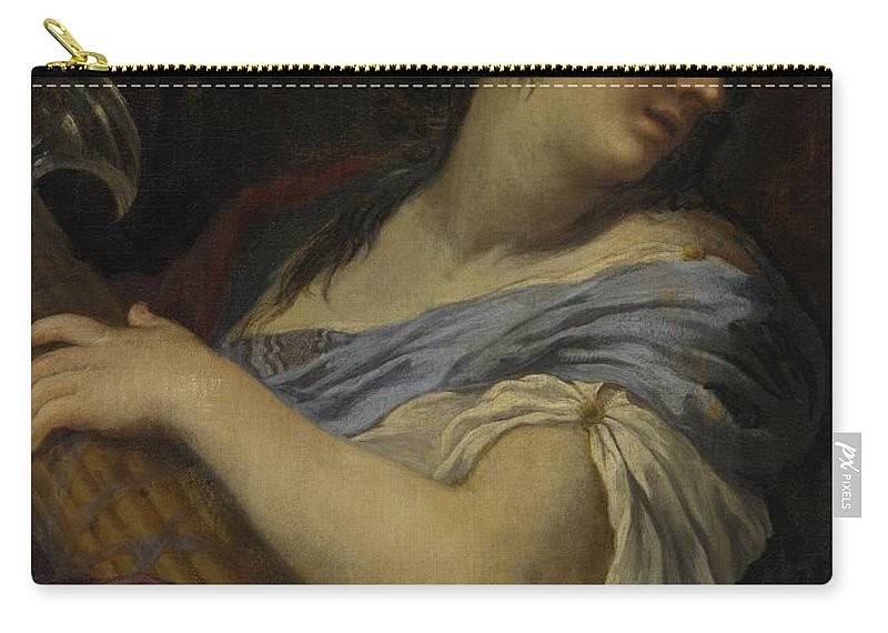 Ciro Ferri A Woman Carry-all Pouch featuring the painting Holding A Fasces by MotionAge Designs