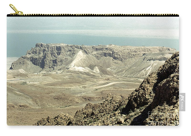 20th Century Carry-all Pouch featuring the photograph Holy Land: Masada by Granger