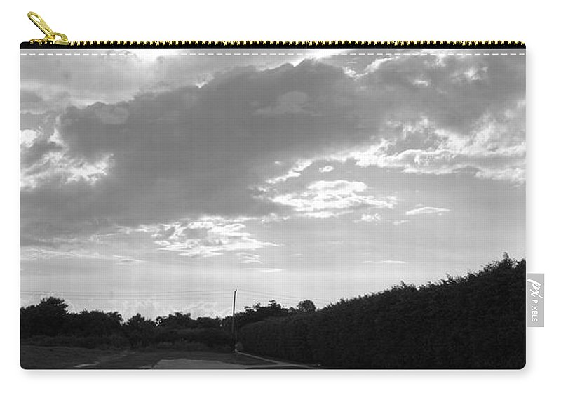 Black And White Carry-all Pouch featuring the photograph Homestead Sky by Rob Hans