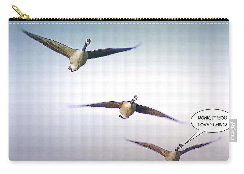 2d Carry-all Pouch featuring the photograph Honk If You Love Flying by Brian Wallace