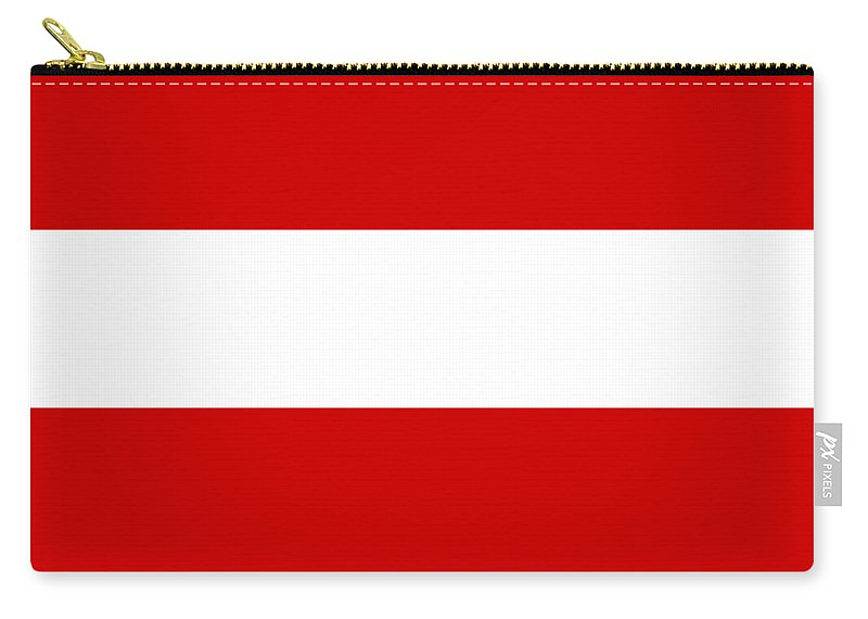Stripes Carry-all Pouch featuring the digital art Horizontal White Outside Stripes 02-p0169 by Custom Home Fashions