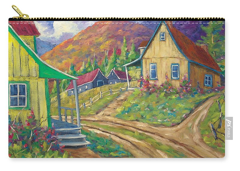 Art Carry-all Pouch featuring the painting House Of Louis by Richard T Pranke