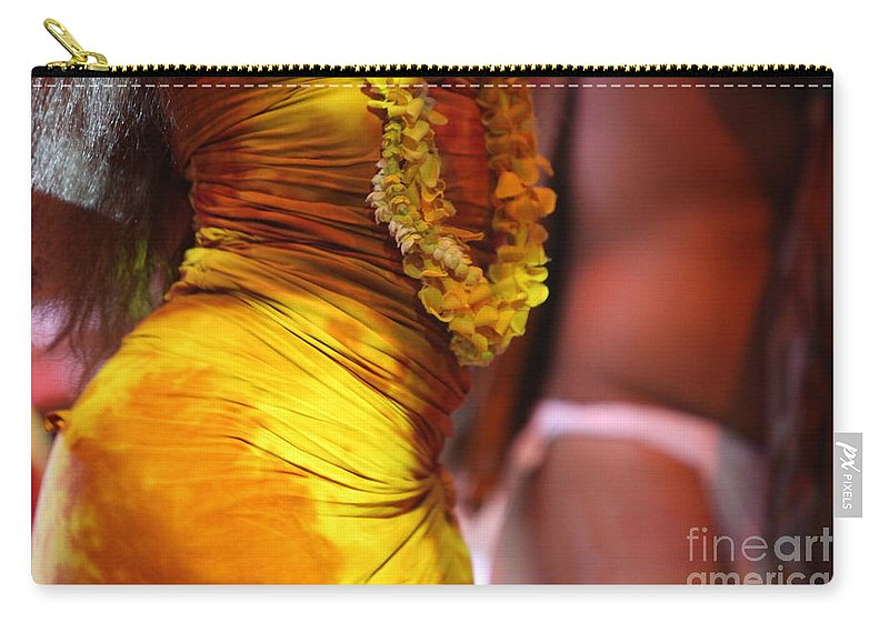 Dance Carry-all Pouch featuring the photograph Hula Dancers by Nadine Rippelmeyer