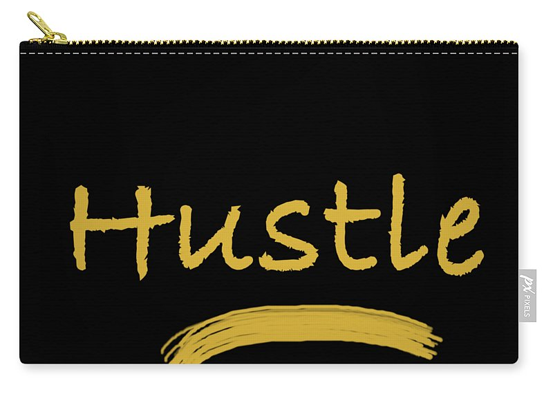 Hustle Carry-all Pouch featuring the digital art Hustle by Positively Quirky