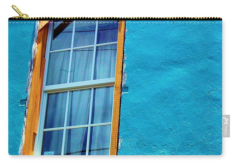 Window Carry-all Pouch featuring the photograph I Got The Blues by Debbi Granruth