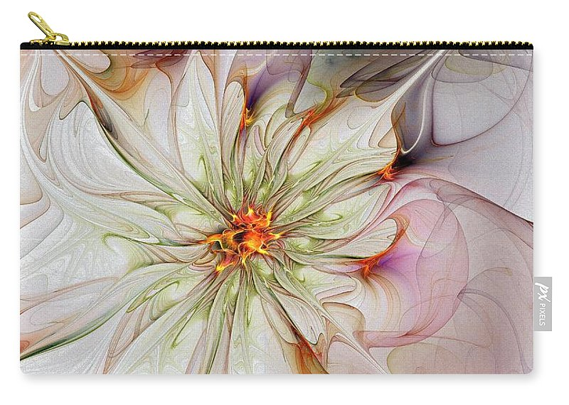 Digital Art Carry-all Pouch featuring the digital art In Full Bloom by Amanda Moore