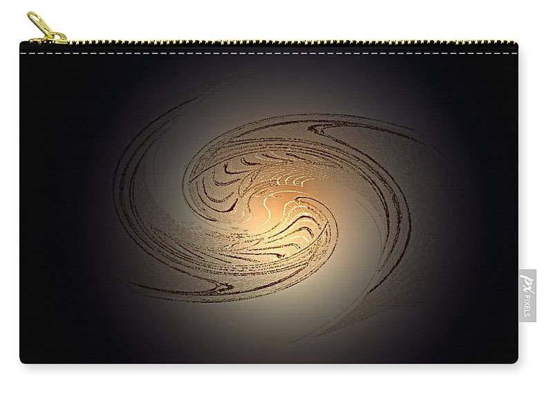 Swirl Carry-all Pouch featuring the digital art In The Beginning by Don Quackenbush