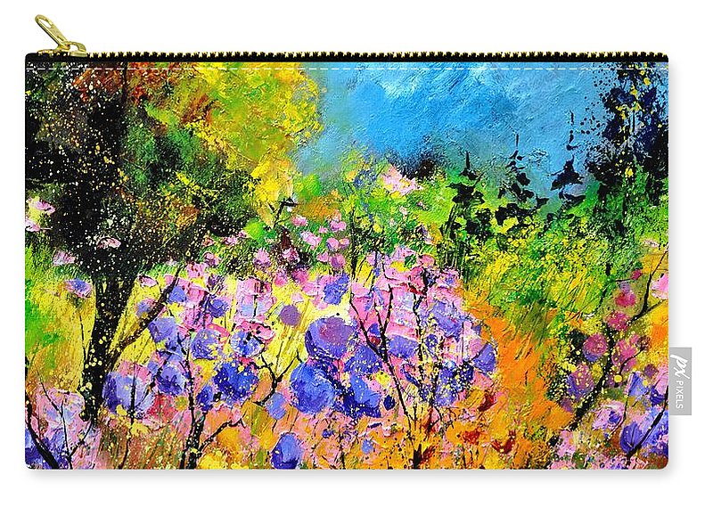 Flowers Carry-all Pouch featuring the painting In The Wood by Pol Ledent