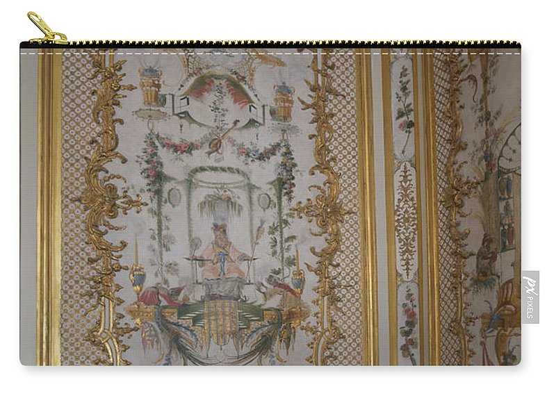 Castle Carry-all Pouch featuring the digital art Inside Chantilly Castle France by Carol Ailles