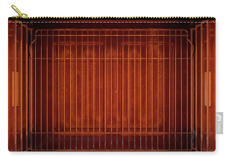 Oven Carry-all Pouch featuring the digital art Inside The Oven From Above 1 by Allan Swart