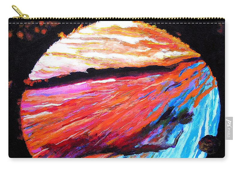 Abstract Carry-all Pouch featuring the painting Inspire Three by Stan Hamilton