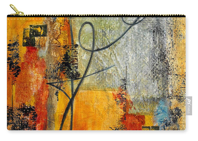 Abstract Carry-all Pouch featuring the painting Invitation To Dance by Ruth Palmer