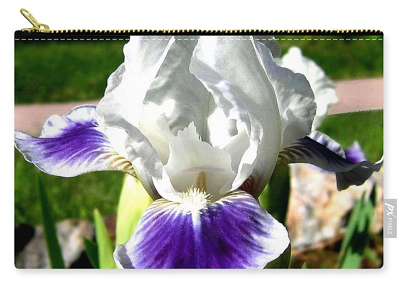 Iris Carry-all Pouch featuring the photograph Iris Elegance by Will Borden
