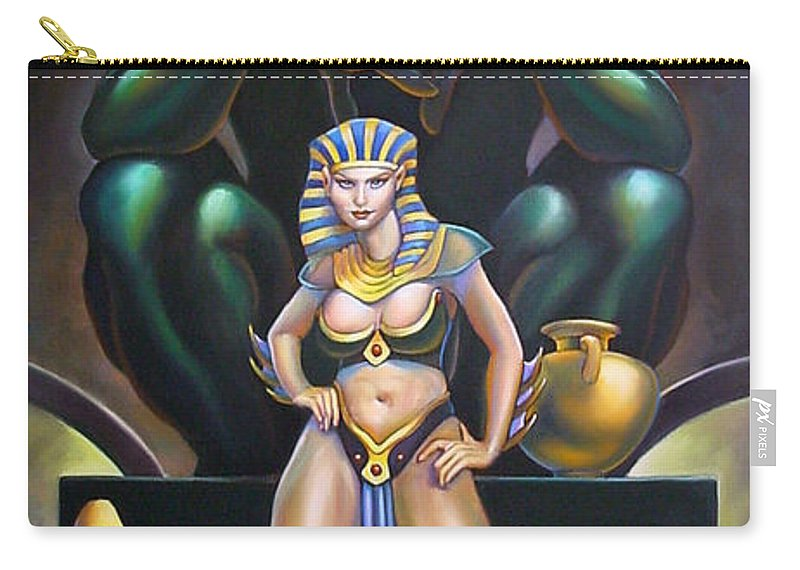 Mermaid Carry-all Pouch featuring the painting Isis And Osiris by Patrick Anthony Pierson