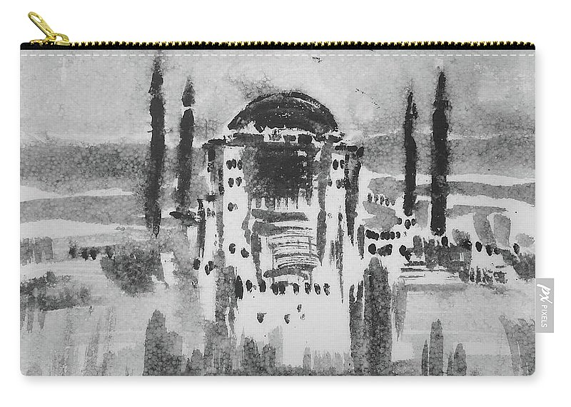 Constantinople Carry-all Pouch featuring the painting Istanbul by Springtime Seventy Eight