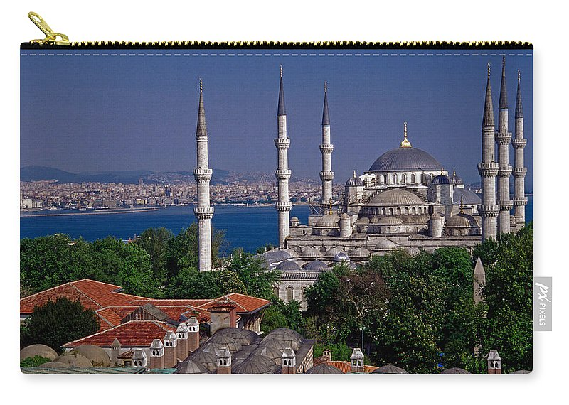 Turkey Carry-all Pouch featuring the photograph Istanbul's Blue Mosque by Michele Burgess
