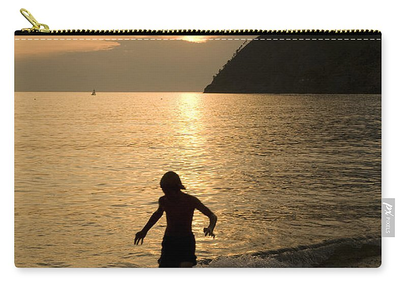 Travel Carry-all Pouch featuring the photograph Italian Sunsets by Ian Middleton