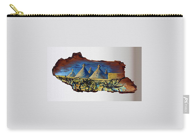 Landscape Carry-all Pouch featuring the painting Italy Village by Pablo de Choros