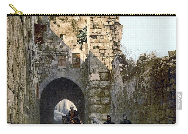 1900 Carry-all Pouch featuring the photograph Jerusalem: Via Dolorosa by Granger