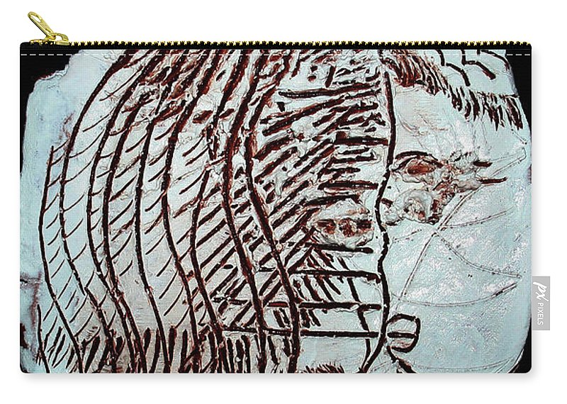 Mama Africa Twojesus Carry-all Pouch featuring the photograph Jesus Christ And Mother Mary by Gloria Ssali