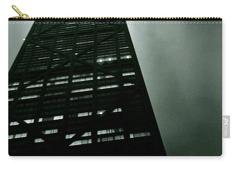 Geometric Carry-all Pouch featuring the photograph John Hancock Building - Chicago Illinois by Michelle Calkins