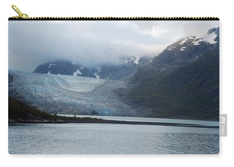 John Hopkins Carry-all Pouch featuring the photograph John Hopkins Glacier by Michael Peychich