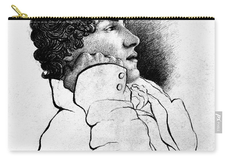 1819 Carry-all Pouch featuring the photograph John Keats (1795-1821) by Granger