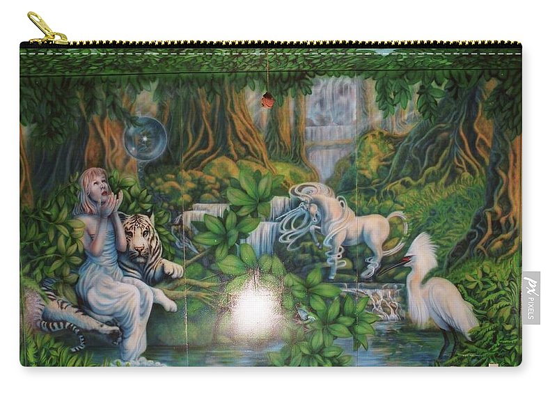 Carry-all Pouch featuring the painting Johnson Baby Room by Wayne Pruse