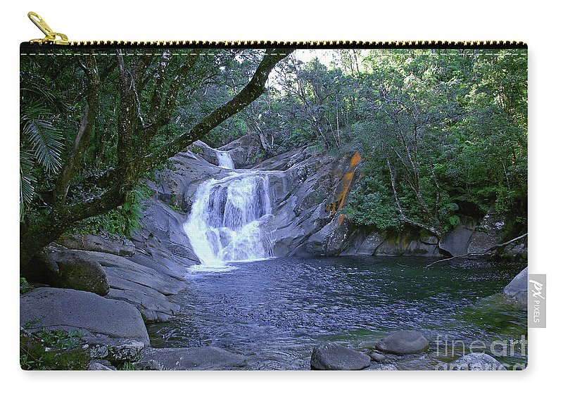 Tropical Carry-all Pouch featuring the photograph Josephine Falls And Tropical Pool by Kerryn Madsen- Pietsch