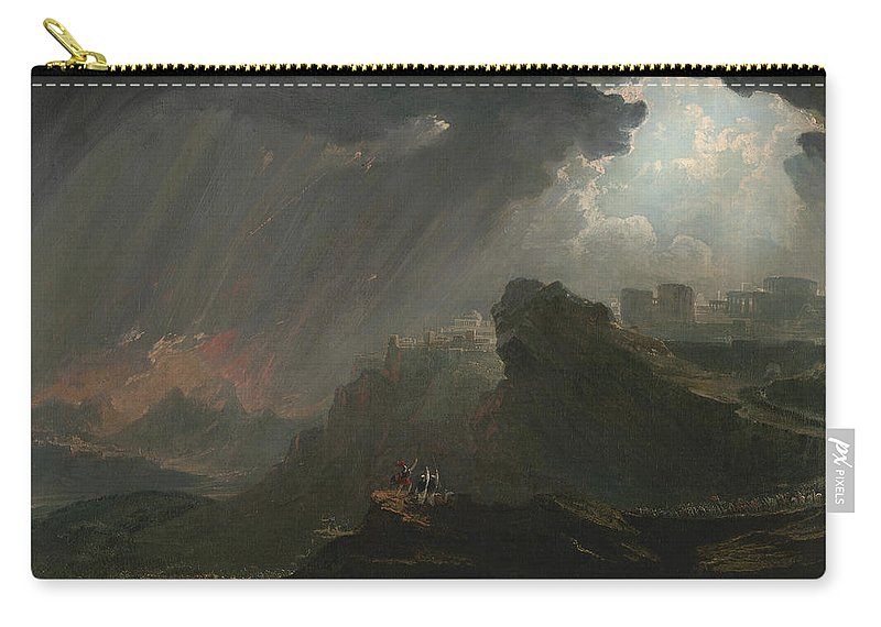 John Martin Carry-all Pouch featuring the painting Joshua Commanding The Sun To Stand Still by John Martin