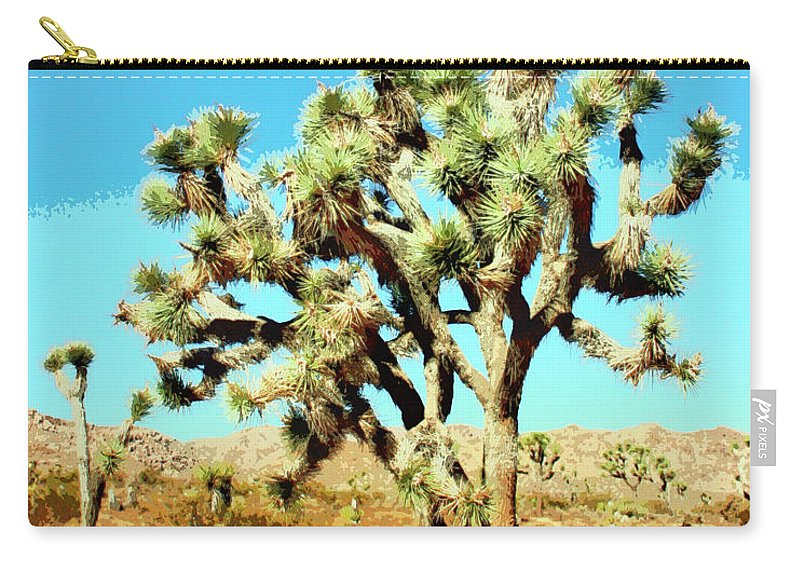Joshua Trees Carry-all Pouch featuring the photograph Joshua Trees by William Dey
