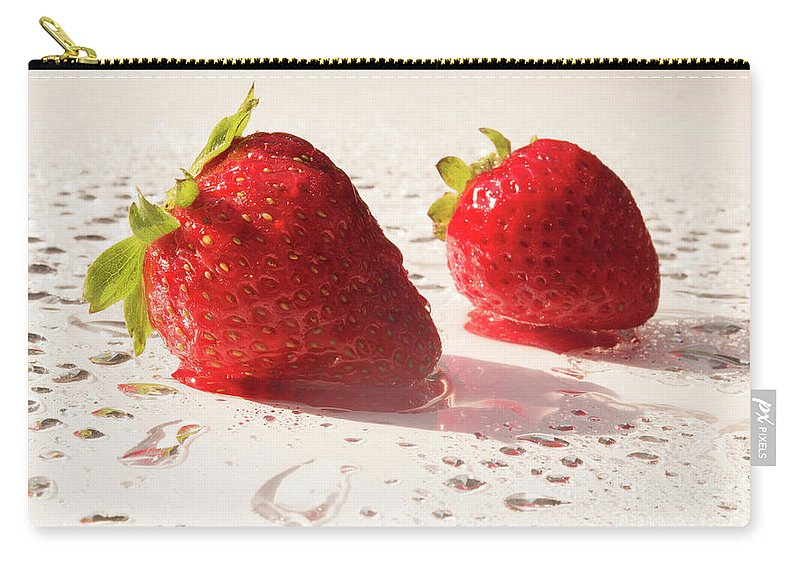 Juicy Carry-all Pouch featuring the photograph Juicy Strawberries by Michelle Himes