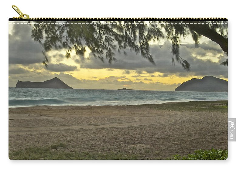 Landscape Carry-all Pouch featuring the photograph Kaohikapu Island Sunrise by Michael Peychich