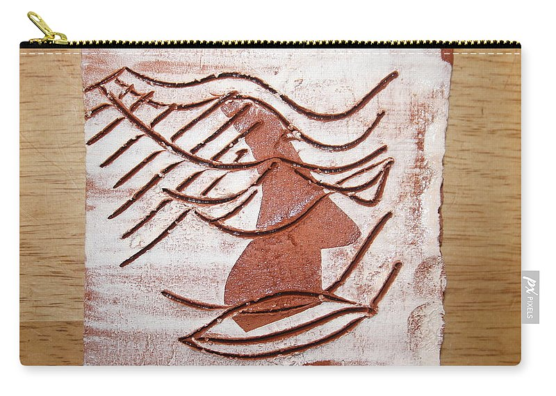 Jesus Carry-all Pouch featuring the ceramic art Keli - Tile by Gloria Ssali