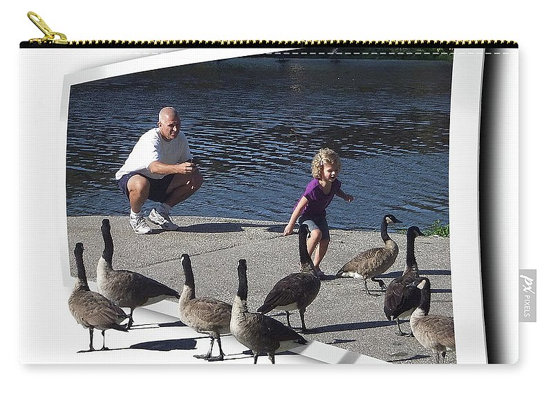 2d Carry-all Pouch featuring the photograph Kids Will Be Kids by Brian Wallace