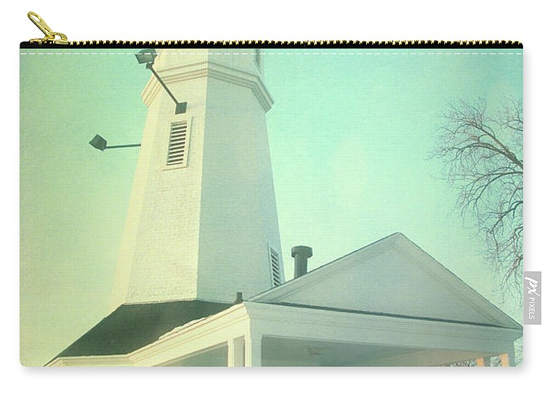 Lighthouse Carry-all Pouch featuring the photograph Kimberly Pointe Lighthouse by Joel Witmeyer