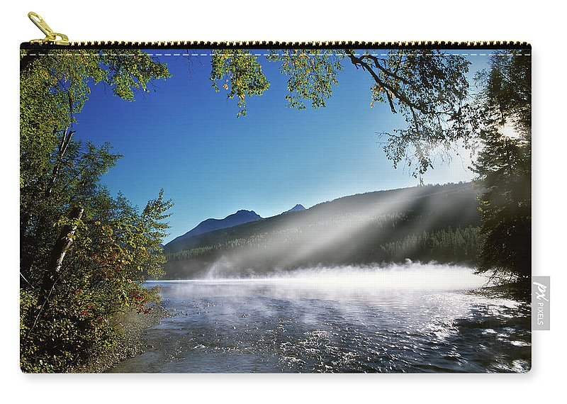 Montana Carry-all Pouch featuring the photograph Kintla Lake by Leland D Howard