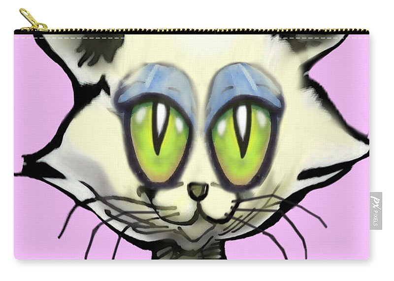 Kitten Carry-all Pouch featuring the digital art Kitten by Kevin Middleton