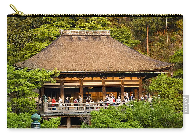 Pagoda Carry-all Pouch featuring the photograph Kiyomizudera Temple by Sebastian Musial