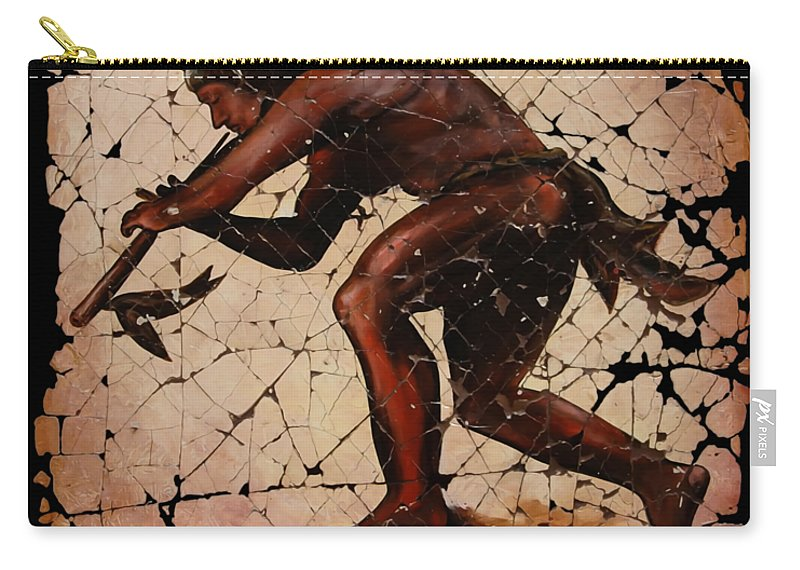 Kokopelli Carry-all Pouch featuring the digital art Kokopelli The Flute Player by OLena Art Brand