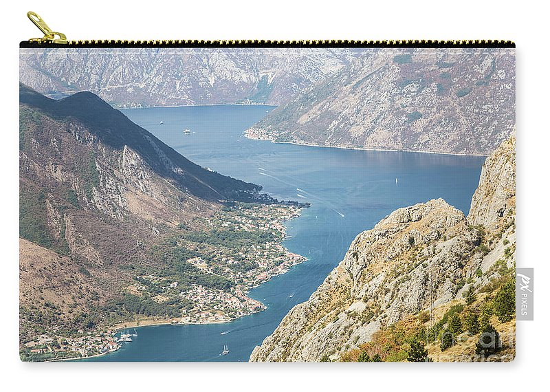 Balkans Carry-all Pouch featuring the photograph Kotor Bay In Montenegro by Didier Marti
