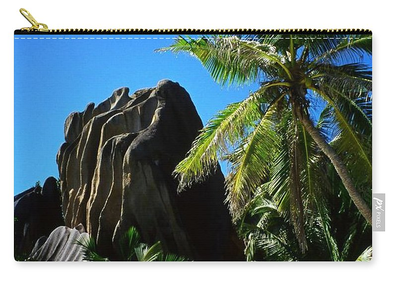Indian Carry-all Pouch featuring the photograph La Digue Island - Seychelles by Juergen Weiss