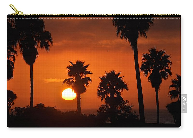 Sunset Carry-all Pouch featuring the photograph La Jolla Sunset by Bridgette Gomes