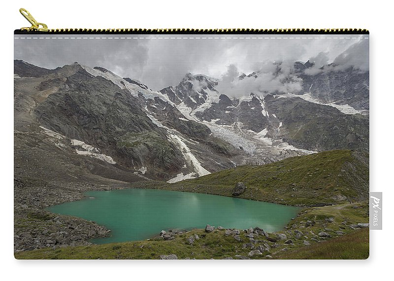 Alps Carry-all Pouch featuring the photograph Lake Locce And Monte Rosa - Piedmont / Italy by Massimo Mazza