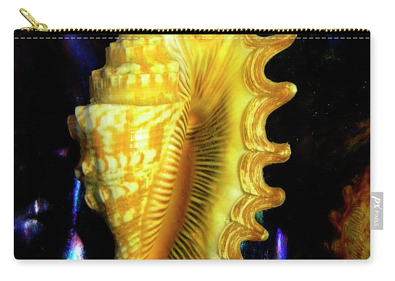 Frank Wilson Carry-all Pouch featuring the photograph Lambis Digitata Seashell by Frank Wilson