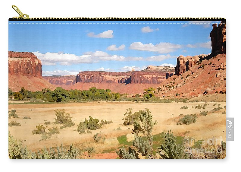 Canyon Lands Carry-all Pouch featuring the photograph Land Of Canyons by David Lee Thompson