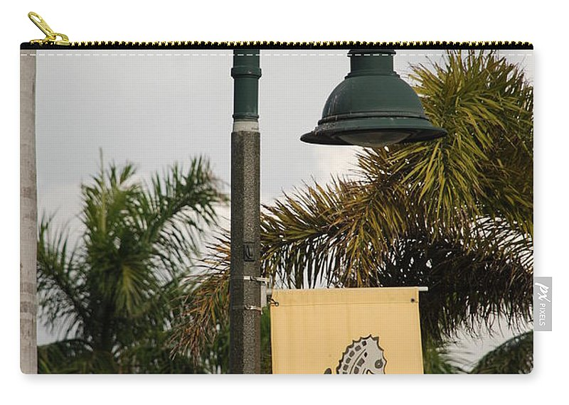 Sea Horse Carry-all Pouch featuring the photograph Lantana Lamp Post by Rob Hans